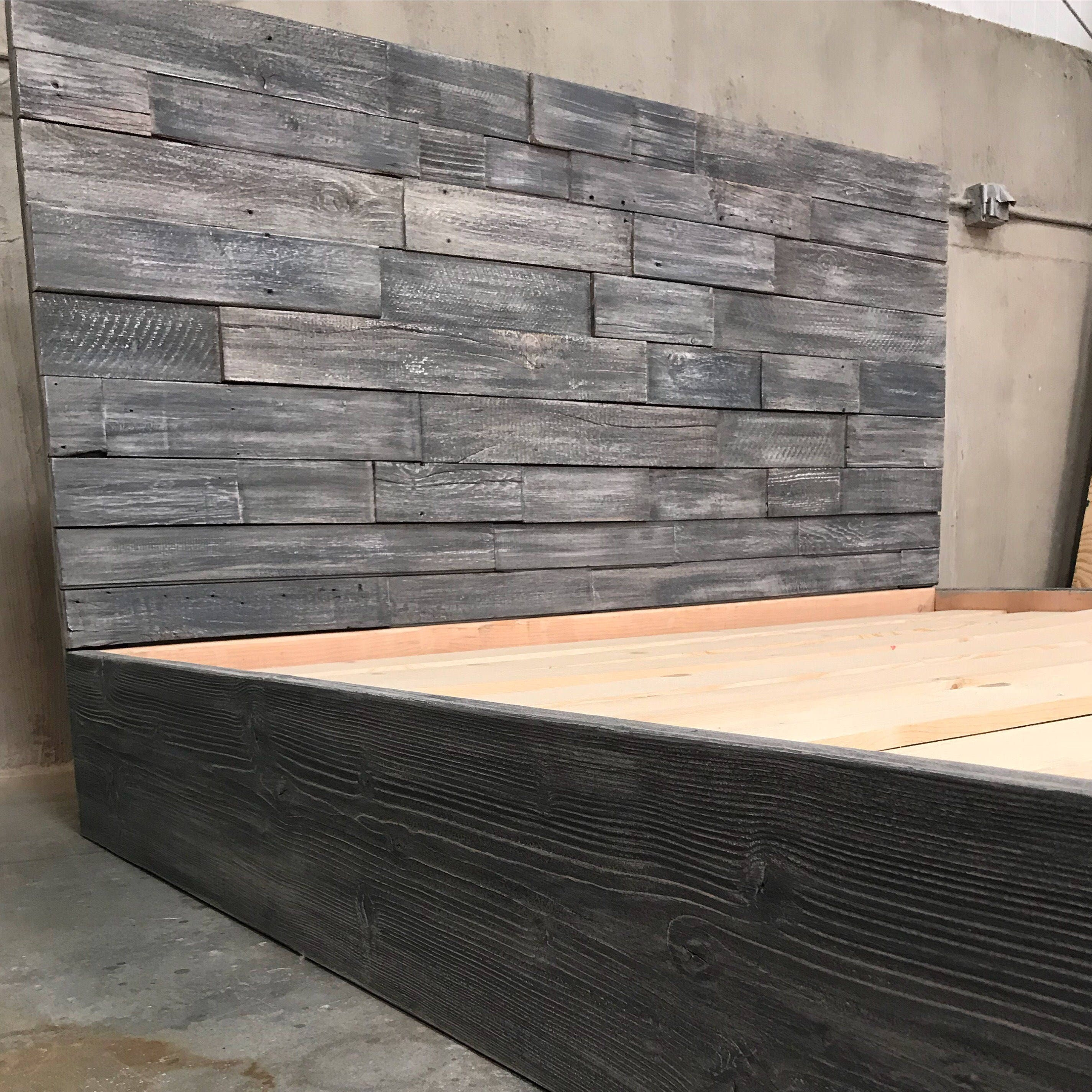 fantastic il regaling wood bedroom a headboard and as barn wonderful diy witching reclaimed made bed installation real furniture wells at from