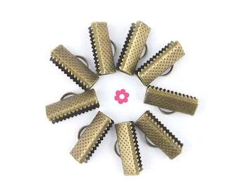 x 30 Ribbon claw clasp bronze 16mm (20)
