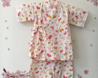 Toddler Girl Kimono, Cute Outfits For Girls, White With Hearts Design, Baby Kimono, Child Kimono, Baby Gifts, Baby Jinbei, Photo Prop Idea