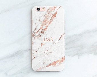 Personalized Gift iPhone 8 Plus Case Rose Marble iPhone 7 Case iPhone X iPhone 6S Plus Custom Phone Cases Gift Ideas for Women Her