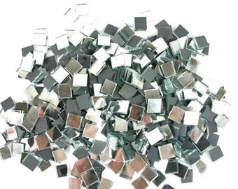 100 Mirror Mosaic Tiles Glass Mosaic 10mm Mosaic Tiles Craft Mosaic Glass Mosaic Tiles Mosaic Tile