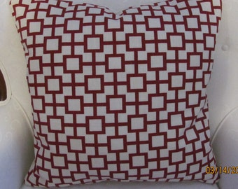 "Robert Allen 20"" Geometric Linen Blend Pillow Cover"