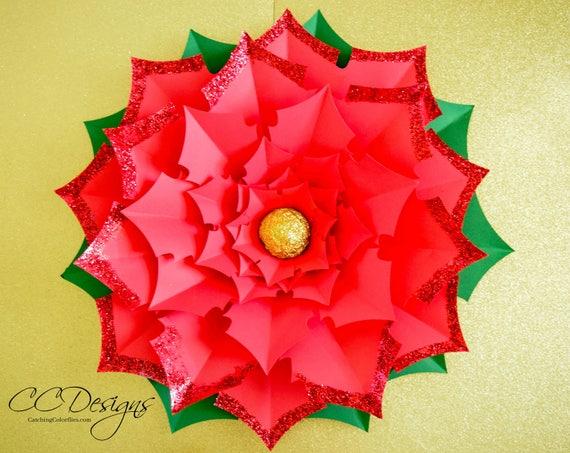 Paper Flower Poinsettia Vaydileforic