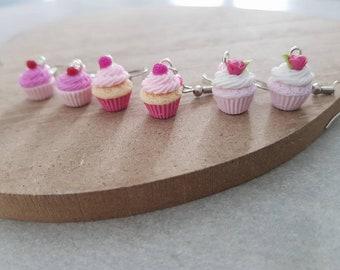 polymer clay cupcake earrings