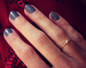 Pearl ring, gold stacking ring, mermaid ring,  14k gold filled ring, stacking rings, midi ring, available as silver ring or gold ring