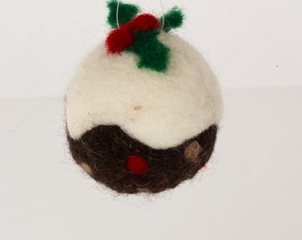 Christmas Pudding Bauble Needle Felting Kit