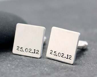 THE DAY, initial Cufflinks, Cuff links, for men