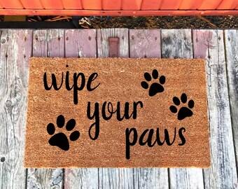 Amazing Wipe Your Paws Doormat, Dog Doormat, Custom Doormat, Paw Print Doormat, Cat  Doormat, Personalized Doormat, Pet Lover Doormat, Pet Gift