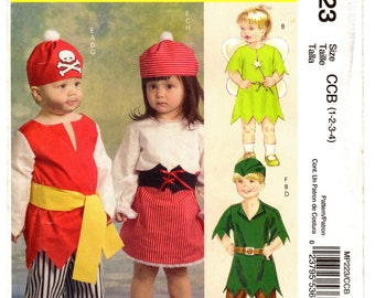 McCalls Costumes Pattern 223 Toddlers' Pirate Costumes Size CCB (1-4) UNCUT