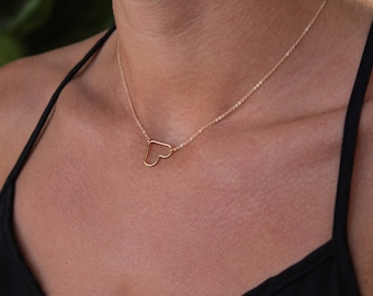 Sweetheart necklace Rosé gold filled