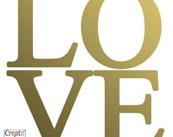 Vinyl Love Word Wall Art Decal