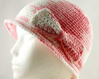 Cancer Hat for Girls in Pink Ombre - Chemo Hat/Bucket Hat/Chemo Cap/Cancer Cap/Bucket Cap