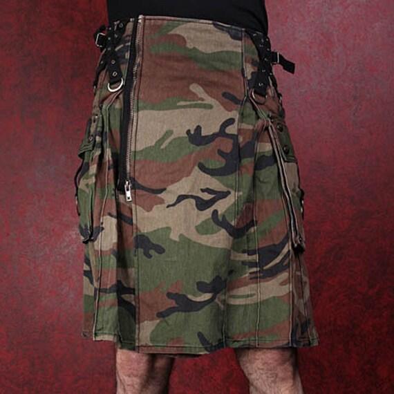 Army camouflage unisex adult kilt NGUskUWaz