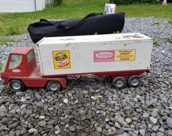 Vintage Nylint Metal True Value Truck and Trailer