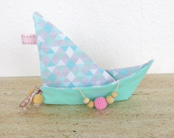 """Crinkle Baby Toy - Boat Shape Origami """"Geometry"""""""