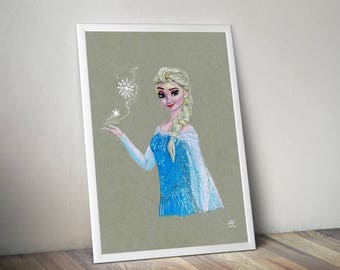 Frozen Elsa print