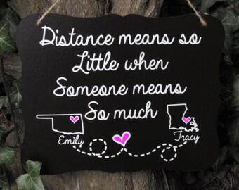 Best friend, Best Friend gift, Long distance relationship, Long distance boyfriend gift, Long distance girlfriend, Long distance friend gift