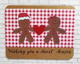 Gingerbread Christmas Card, Christmas Card, Holiday Card, Handmade Christmas Card