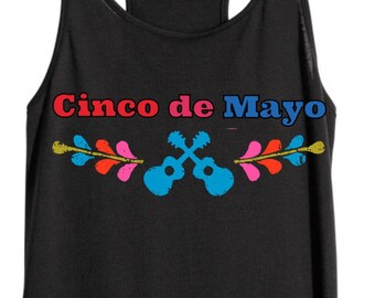 Cinco de Mayo black tank top