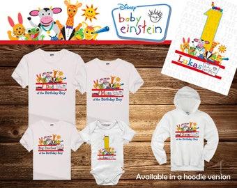 Baby Einstein Personalized Birthday Shirt - Tshirt - Hoodie - Onesie - Mom - Dad - Sister - Brother - Birthday