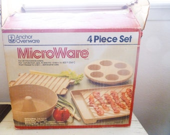 Microwave cookware, Microware, kitchen ware, fast cooking, vintage cooking, vintage microwave, wedding present, housewarming gift