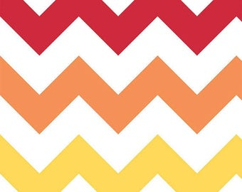 Riley Blake - Large Rainbow Chevron - 1/2 yard fabric - by Boutique Mia