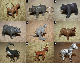 Wild Animal Accessories - Necklaces and Keychains - Bears, Zebras, Deer, Hippo, Giraffe, Monkeys and more!