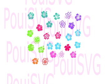 Hibiscus svg, Flower svg, flora svg, silhouette svg, bloom svg,plant svg, cricut cut file, svg cutting file,