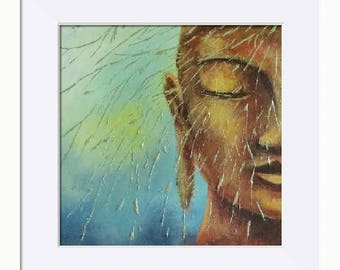 Buddha; Nature's Elements Picture - Limited Edition Fine Art Print, Original Artwork by Tracey Zorek