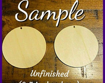 Round Wooden Earrings (2.5 in)- Design It Your Way (DIYW)- Qty :1