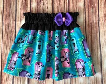 Vampirina Skirt, Skirt with Vampirina, Vampire Girl Skirt