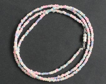 Waist Beads, 3 mm Pastel Pearl  Beads, With Silver Clasp or Without