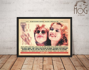 Thelma and louise etsy thelma louise poster quote retro movie poster movie print film poster bookmarktalkfo Images