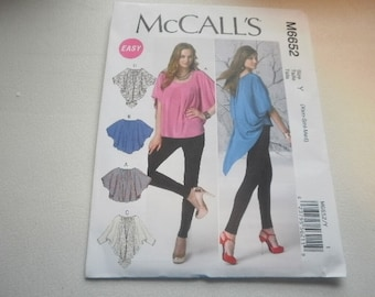 Pattern Ladies Tops 4 Styles Sizes 4 to 14 McCalls 6652