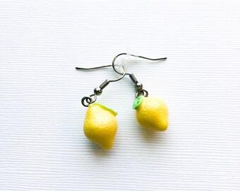 Lemon earrings, Gift for her, fruit earrings, Liz Lemon earrings, dangle earrings, Liz Lemon jewelry