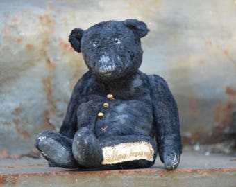 Artist Teddy Bear OOAK antique teddy bear vintage toy Plush Sawdust Soft sculpture Teddy Bear Сollectible teddy bears