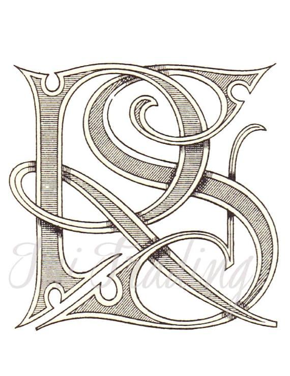 r s digital stencil rs monogram r s logo or letters