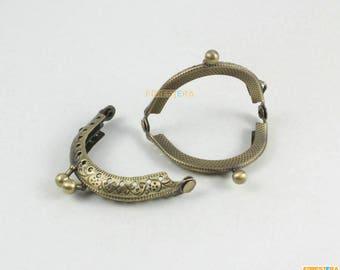 1Pcs Purse Frame 5CM Antique Brass Bag Purse Frame Handbag Frame (KJJ53)
