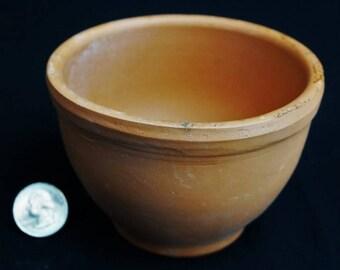 """Clay Bowl, 4"""" x 3"""": pottery, terra cotta, miniature garden, fairy garden, succulents, planter"""