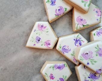 Floral Diamond Cookies