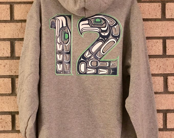 NW Coast Haida 12 and Haida Hawk on zip up hoodies