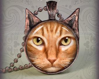 OTB5 Orange Tabby Cat  pendant