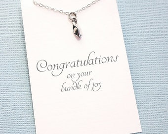 New Mom Gift | Pregnancy Gift, Pea Necklace Gift for Mom, Baby Shower Gift, New Baby Gift, Mom Necklace, Mothers Day Gift for Her  | M16