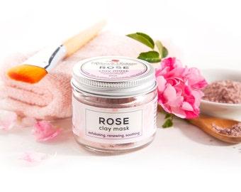 Rose Clay Mask - Exfoliating, Softening, Detoxifying - 2oz