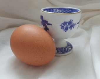 Blue and White Eggcup by George Jones and Sons