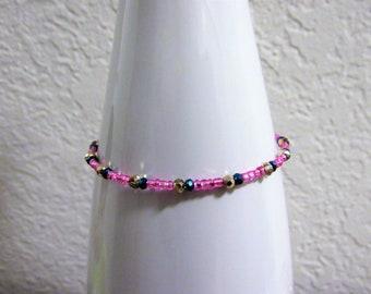 Pink and Denim Blue Bracelet