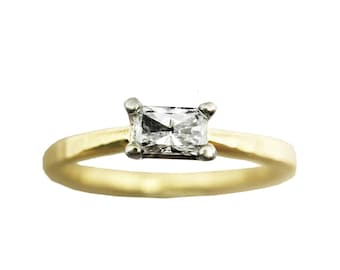 Forever Yours | Radiant Diamond Engagement Ring | 14K Yellow Gold Ring