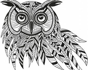 Owl embroidery, machine embroidery, owl design, owl decor, embroidery design, embroidery pattern, machine embroidery designs, diy embroidery