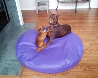 Round 60 Inch Extra Large Incontinence Pet Bed Replacement Liner Cover 100% Waterproof Liner, Older Pet Beds, Cat Bedding, 16 Colors
