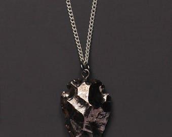Arrow necklace - Gunmetal Arrow necklace for men - Arrow pendant - Silver chain for men - Men's Jewelry - Necklaces for men - Gift